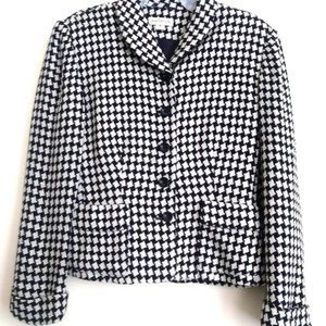 Ann Taylor Check Print Fully Lined Jacket Size 6